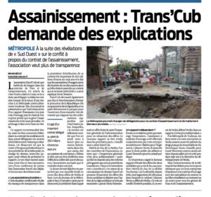 A bordeaux l 39 association trans 39 cub intervient sur le - Assainissement bordeaux ...